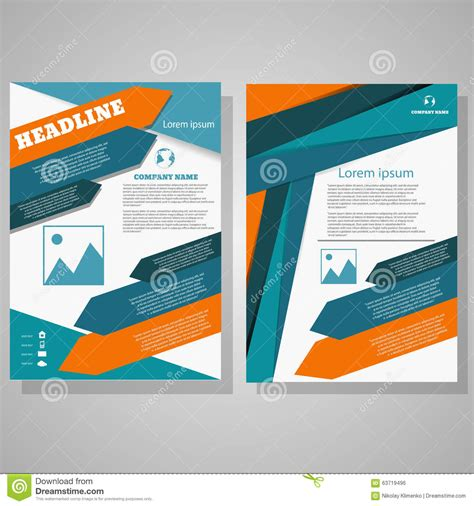 vector brochure flyer design layout template in a4 size vector design brochure flyer design layout template size