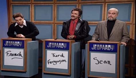 snl celeb jeopardy sean connery full episodes watch alex trebek say turd ferguson on jeopardy ny