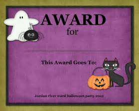 Halloween Costume Certificate Template Digital Designs Scrapbooking Halloween Costume Contest Awards