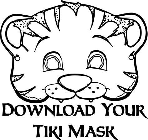 tiger mask coloring page tiger mask coloring page wecoloringpage