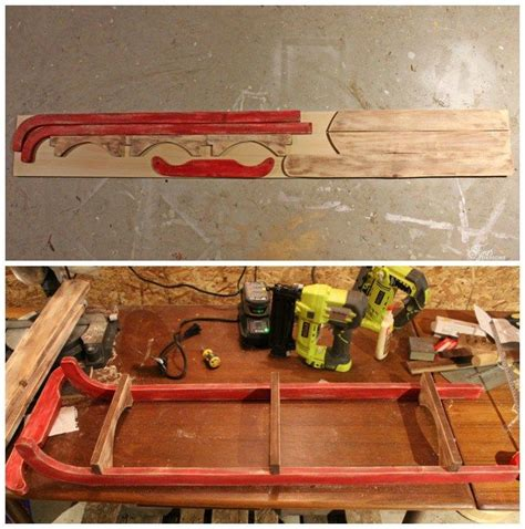 diy wooden sled tutorial diy wooden sled vintage