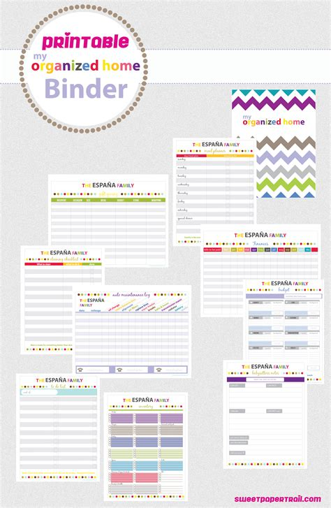 free printable home planner pages 5 best images of free printable household planner pages