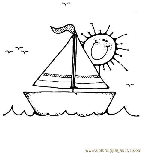 coloring pages of water transport boat coloring page 16 coloring page free water transport
