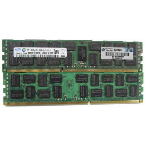 Memory Hp Samsung 16gb samsung 16gb 2 x 8gb 2rx4 pc3 10600r m393b1k70ch0 ch9q5