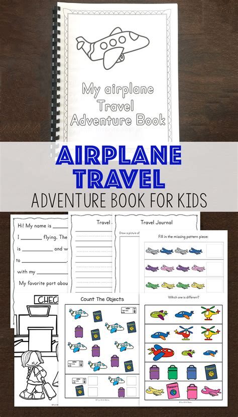 activity for travel adventure airplane activity book for