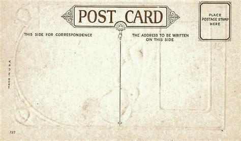 printable postcards online free prinrable antique postcards the back sides