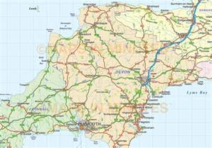 south west map south west county road and rail map at 1m scale in