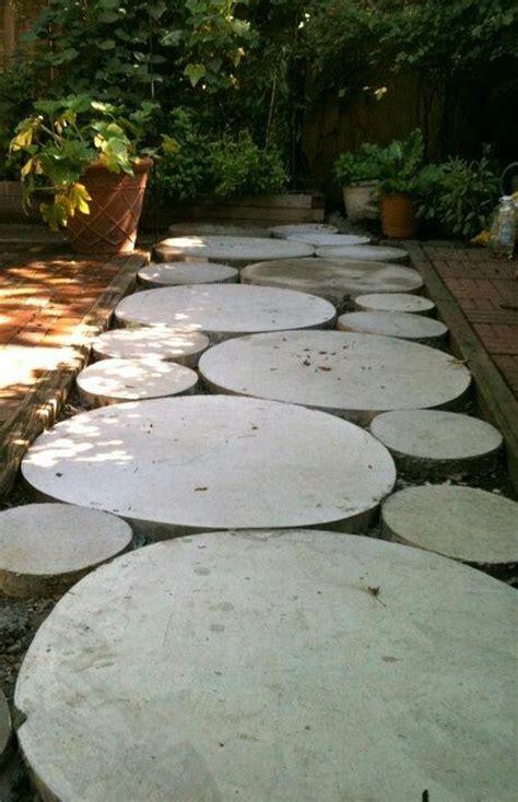 landscape design forum diy concrete stepping path