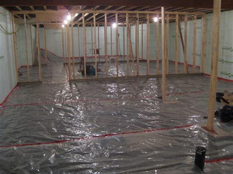 Basement floor vapor barrier installation   Basement Gallery