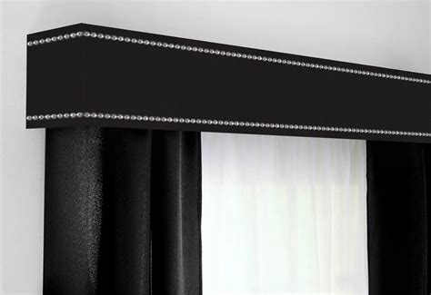 cornice board custom cornice board pelmet box window treatment in black with