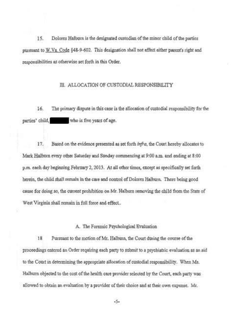 Parent Letter Va Divorce Order Halburn V Halburn 11d 516