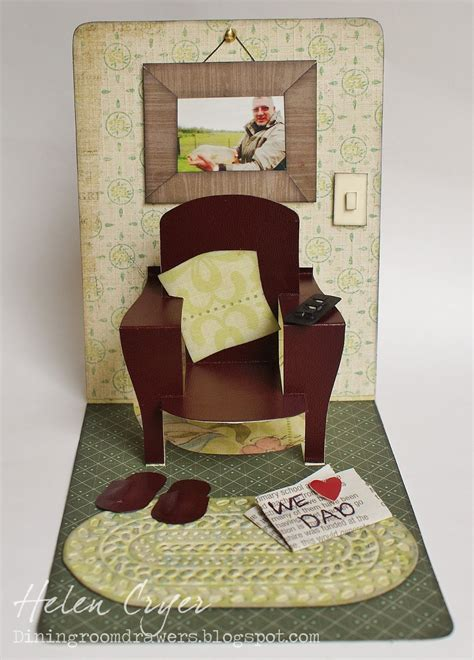 card chair template the dining room drawers pop n cuts chair s day card