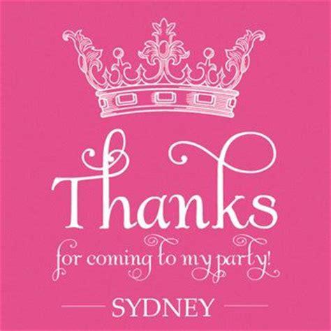 Pri Ess Favor Tags Fuchsia Pink Crown Tiara Thank You