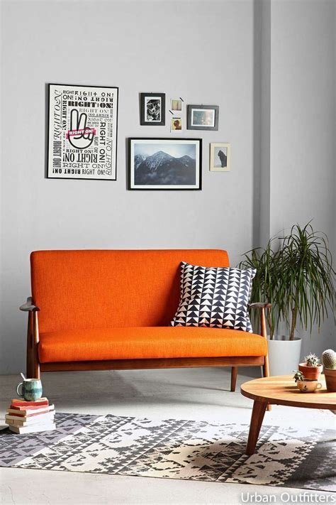 Living Room With Orange Sofa Best 25 Orange Sofa Ideas On Orange Sofa Design Orange Sofa Inspiration And Orange