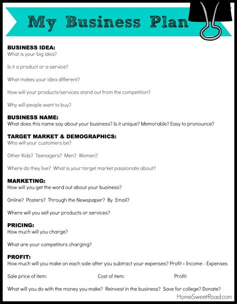 free printable business plan template best photos of free printable business sle