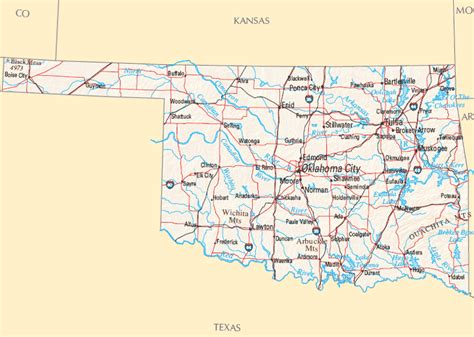 map oklahoma oklahoma map map of oklahoma