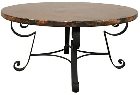 copper top coffee table arhaus copper top coffee table chairish