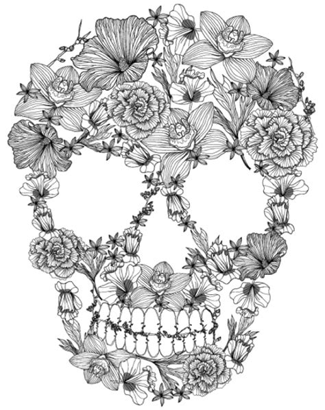 coloring books for grown ups dia de los muertos 1000 images about flowers coloring on
