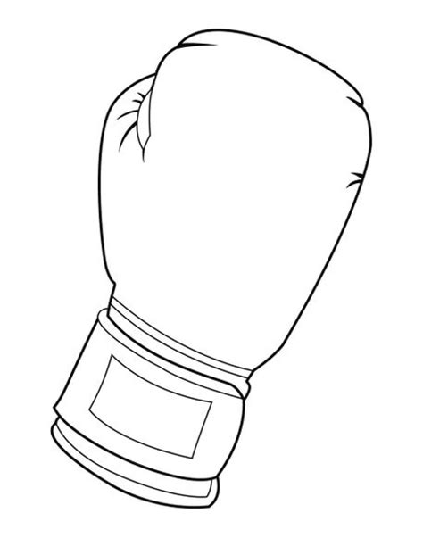 black and white boxing glove by william rossin on