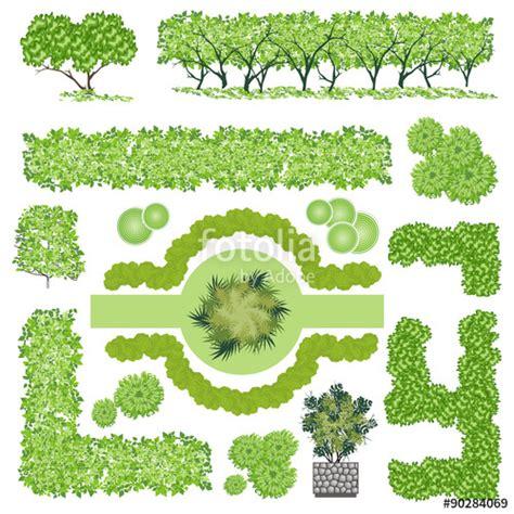 landscape design elements vector illustration quot trees and bush item top view for landscape design vector