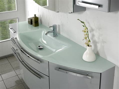 Glass Bathroom Vanity Units by Pelipal Bathroom Furniture 1680mm Glass Basin