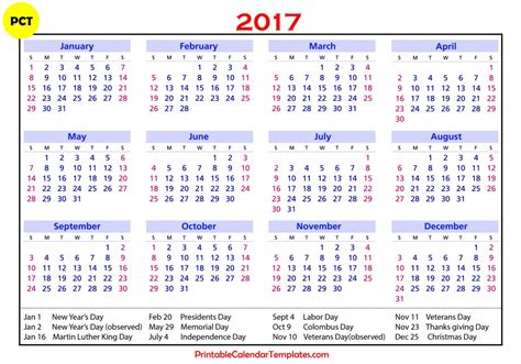 printable us holiday calendar 2017 calendar with holidays us uk canada free