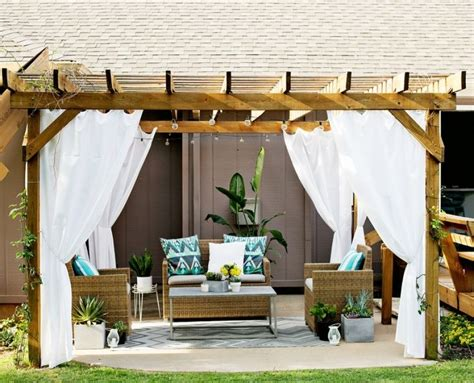 outdoor pergola drapes 1000 ideas about pergola curtains on pinterest outdoor