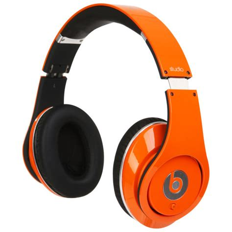 Headset Earphone Beats With Mic beats by dr dre studio noise cancelling hd headphones with microphone orange iwoot