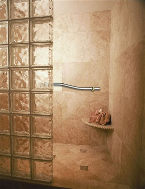 glass block bathroom ideas roll in handicapped ada shower design tips cleveland columbus ohio