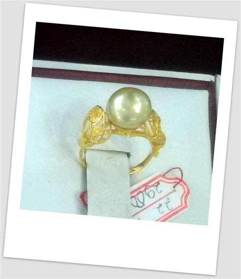 Cincin Mutiara Lombok Perhiasan Accessories 3 handmade gold ring with south sea pearl ctr 079 harga mutiara lombok perhiasan toko emas