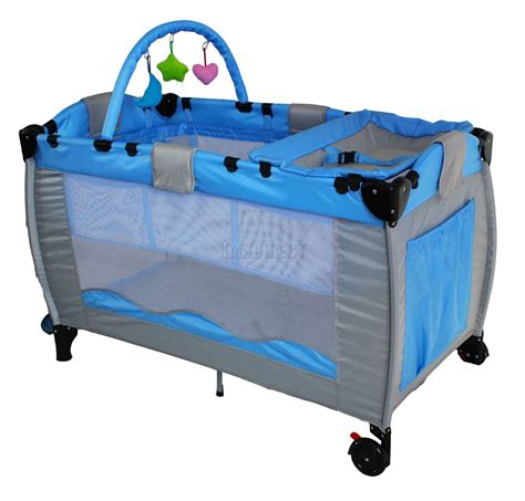 baby play bed new blue portable child baby travel cot bed bassinet