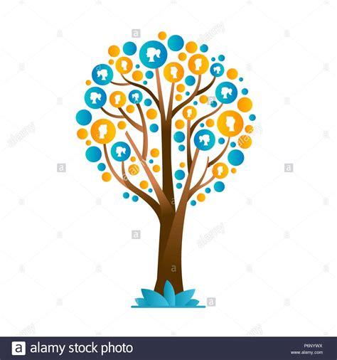 Family Tree Vector Template Stock Photos Family Tree Vector Template Stock Images Alamy Family Tree Concept Illustration Vector