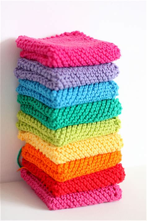 knitted rainbow dishcloths for christmas gifts flickr