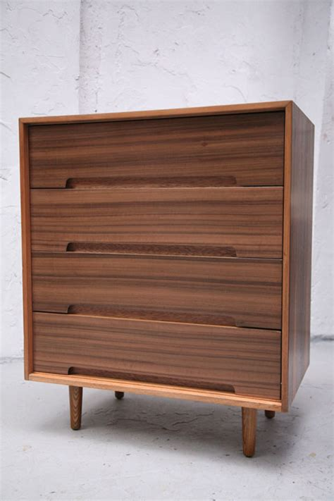 walnut chest of drawers by stag and chrome