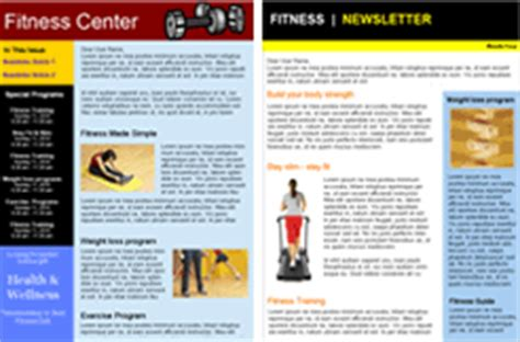 Fitness Email Marketing Fitness Newsletter Templates