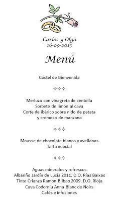 menu de banquetes para boda el 250 o minuta banquete de bodas paperblog
