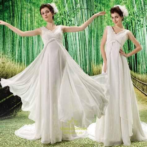 Empire Of Ivory ivory empire waist chiffon wedding dress bridesmaid dresses