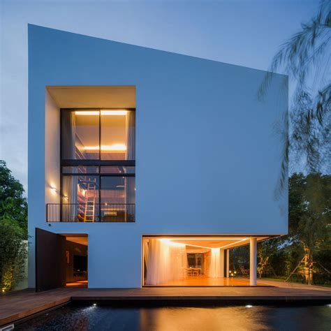 Home Architecture And Design by Modern White House With Integrated Angles And Corners