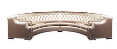 luxury grand half circle button tufted upholstered sofa