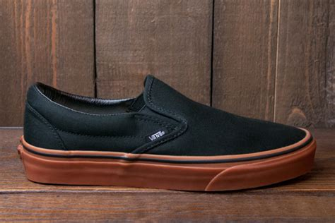 Sepatu Vans Slip On Slop Black vans quot gumsole quot slip on and skool collection sneakernews