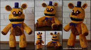 Five nights at freddys nightmare fredbear plush by roobbo on