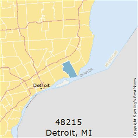 detroit zip code map best places to live in detroit zip 48215 michigan