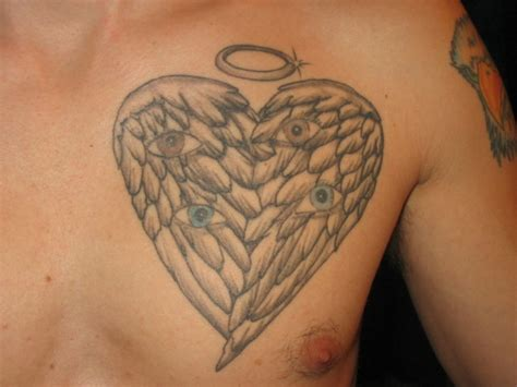 heart with wings tattoos shaped wings picture