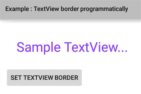 android set layout weight programmatically textview how to add a border to textview programmatically in android