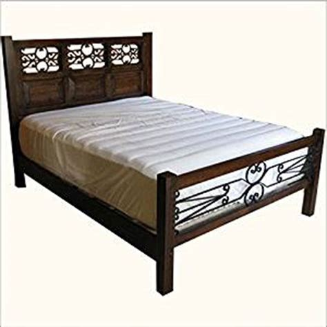 wrought iron bed frame queen amazon com philadelphia decorative wrought iron queen