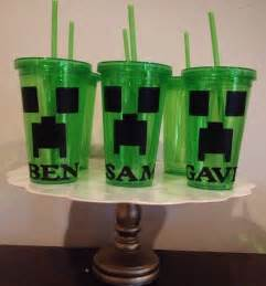 Minecraft Favor by 10 Minecraft Creepers Favors Personalized Cups 16 Oz