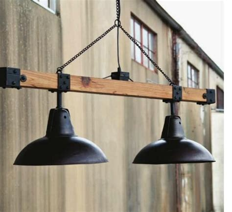 Garage Pendant Light Warehouse Lights Beam Industrial Vintage Style Loft Shop