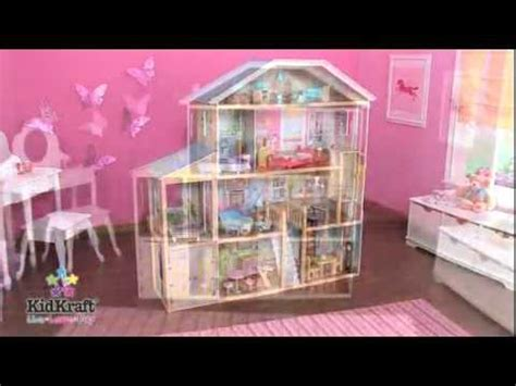dolls play house kidkraft majestic mansion dollhouse 65252 barbie doll compatible playhouse youtube