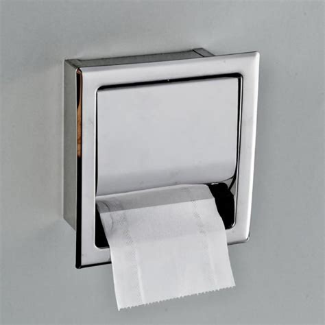 Contemporary Home Decor Contemporary Recessed Toilet Paper Holder Brushed Nickel