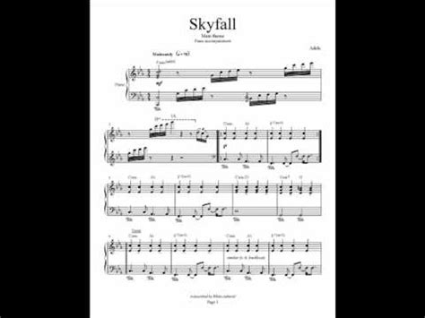 testo adele skyfall skyfall adele piano accompaniment cover